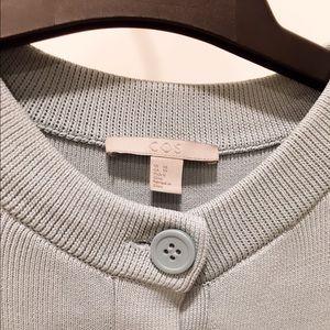 COS Dresses - 💕 COS Pleated Mini Sweater Dress Light Blue XS